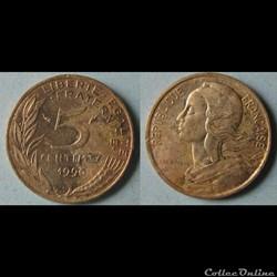5 centimes MARIANNE 1990