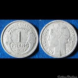 1 franc morlon (légère) 1958