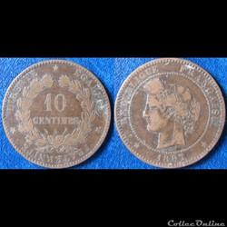 10 centimes Cérès 1897A