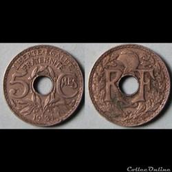 5 centimes Lindauer (petit module) 1931
