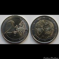2 euros Auguste Rodin 2017
