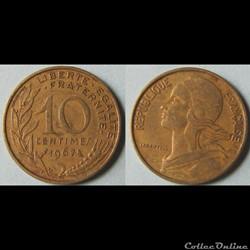 10 centimes MARIANNE 1967