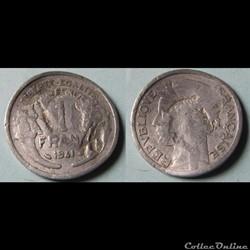 1 franc MORLON, lourde 1941