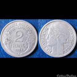 2 francs Morlon 1947 B