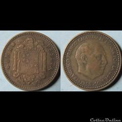 1 peseta Franco (1ère effigie) 1953 (56)
