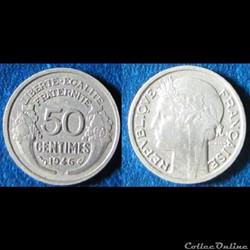 50 centimes Morlon (légère) 1946