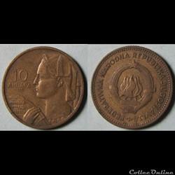 10 dinar 1955