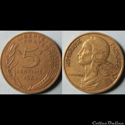 5 centimes Marianne 1983