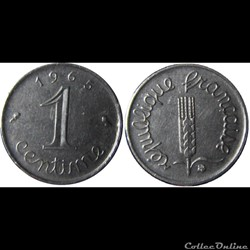 1 centime Epi 1965