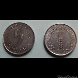 5 centimes EPI 1962