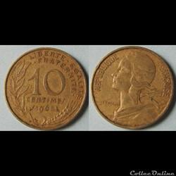 10 centimes MARIANNE 1965