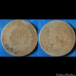 10 centimes Cérès 1877 (?)