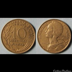 10 centimes MARIANNE 1968