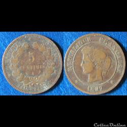 5 centimes Cérès 1897 A
