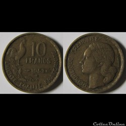 10 francs Guiraud 1953 B
