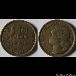 10 francs Guiraud 1952 B