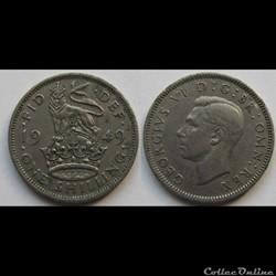 1 Shilling George VI (cimier de l'Angleterre