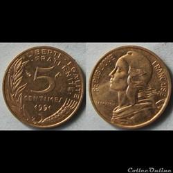 5 centimes Marianne 1991