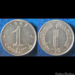 1 centime Epi 1968