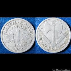 1 franc Francisque (légère) 1944 C