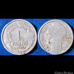 1 franc Morlon (légère) 1947 B