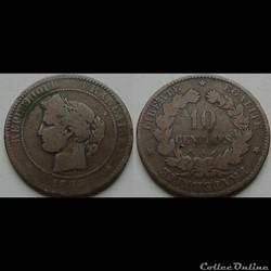 10 centimes Cérès 1884 A