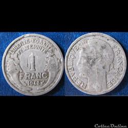 1 franc Morlon (légère) 1948