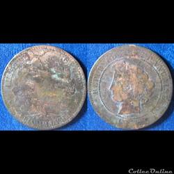 10 centimes Cérès 1872