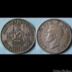 1 shilling George VI (cimier de l'Ecosse) 1948