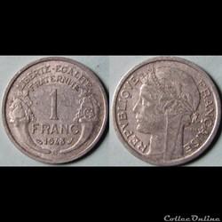1 franc Morlon 1948 B