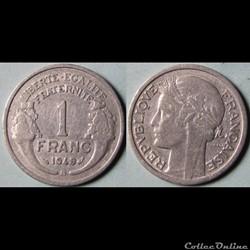 1 franc Morlon 1949 B