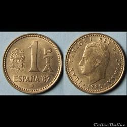 1 peseta Juan Carlos Ier 1980 (80)