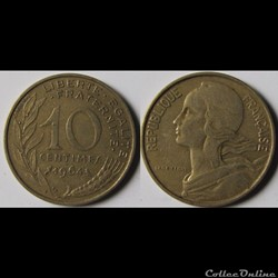 10 centimes Marianne 1964
