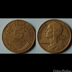 5 centimes Marianne 1967