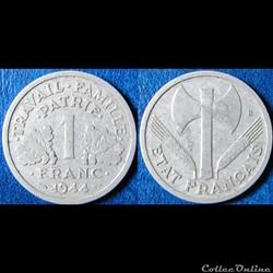 1 franc Francisque (légère) 1944