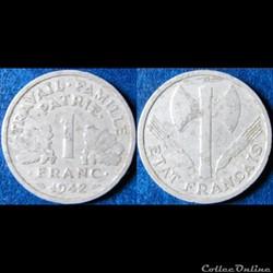 1 franc Francisque (lourde) 1942