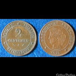 2 centimes Cérès 1895 A