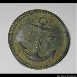 Bouton de conscrits ouvriers 17e C . 1803.