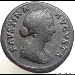 Faustine II - Sesterce - Salvti Avgvstae...
