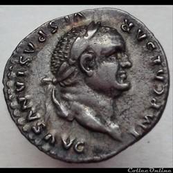 Vespasien - Denier - PONT MAX TR P COS VI - RIC 772