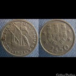 2,50 Escudos 1981