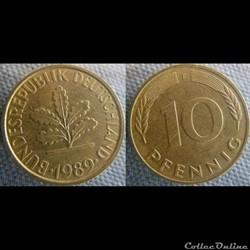 10 Pfennig 1989 F