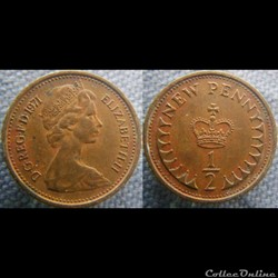 1/2 New Penny 1971