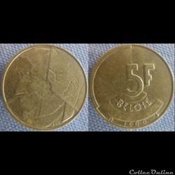 5 Francs 1988 fl