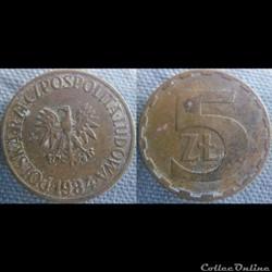 5 Zlotych 1984