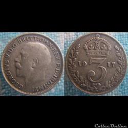 3 Pence 1917