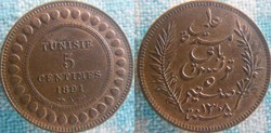 5 Centimes 1891 A