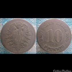 10 pfennig 1875 G