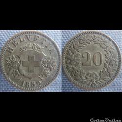 20 Rappen 1859 B