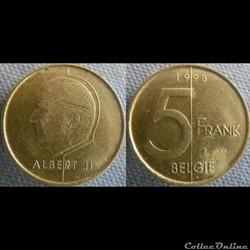 5 Francs 1998 fl